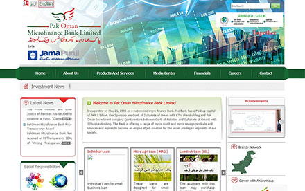 Pak Oman Microfinance Bank Ltd. Designed And Developed By Interactive Media