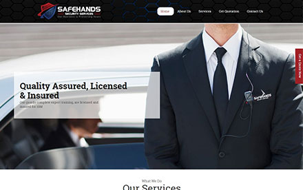 SafeHands Security Services Designed And Developed By Interactive Media