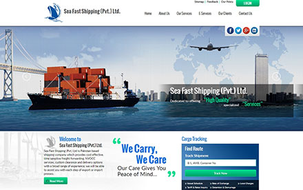 Sea Fast Shipping Designed And Developed By Interactive Media