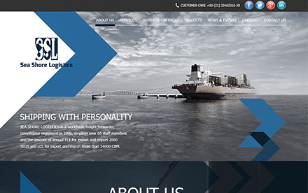 Seashore Logistics Designed And Developed By Interactive Media