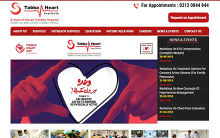 Tabba Heart Institute Designed And Developed By Interactive Media
