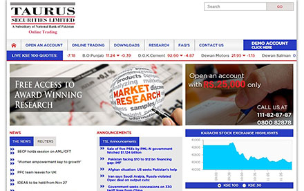 Taurus Securities Ltd. Designed And Developed By Interactive Media