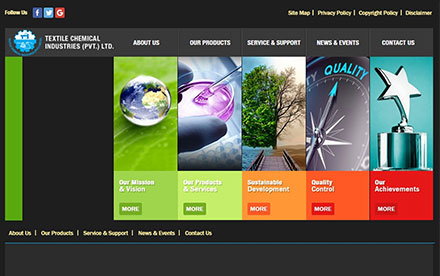 Textile Chemical Industries Designed And Developed By Interactive Media